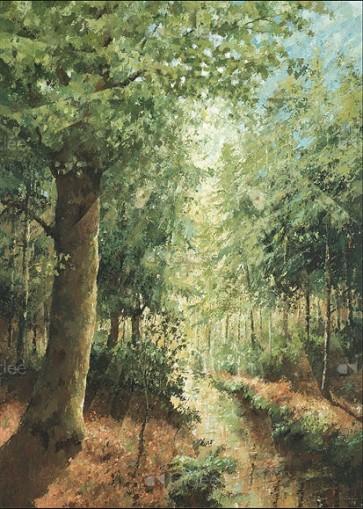 Marius van Dokkum - Boslandschap